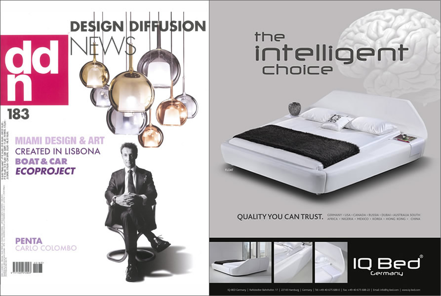 Iq bed the intelligent choice for International diffusion decor